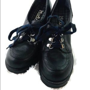 Mudd Chunky Heel Oxfords Shoes Size 7 Black